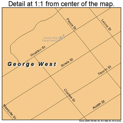 george west map 4829348