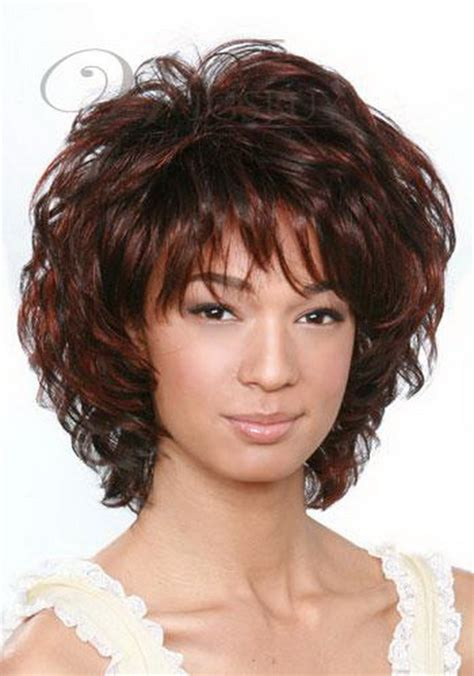 short hairstyles with curly bangs short curly hairstyles with bangs