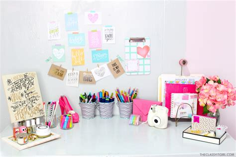 Diy Desk Organization Tips The Classy It Girl Diy Desk Organization