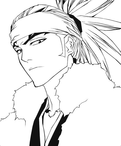 free bleach renji coloring pages