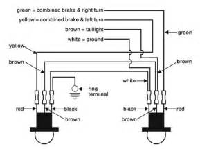 diagram for wiring the sockets of the roadmaster taillight