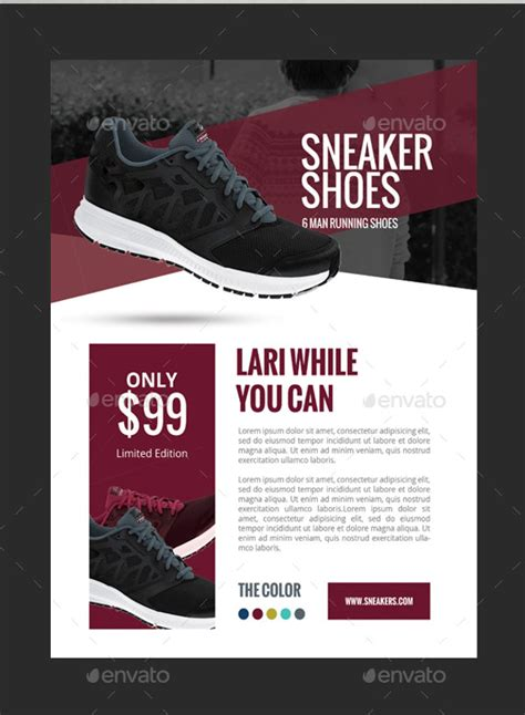 sports flyers templates 7 awesome shoe flyer templates free premium templates