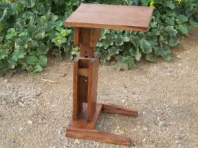 Sofa table tv tray desk plant stand with adjustable height
