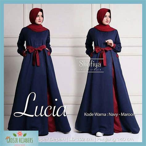 Baju Dress Wanita Navy baju murah wanita gamis maxi lucia dress navy baju gamis