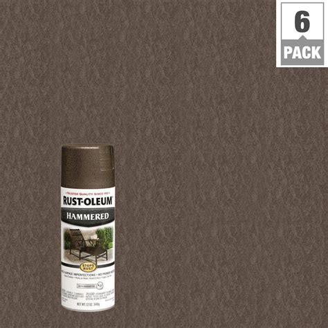 rust oleum stops rust 12 oz bronze protective enamel hammered spray paint 6 pack 7218830