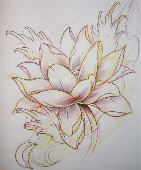 Tattoo Flash Lotus | lotus flash 01 by sunofkyuss on deviantart