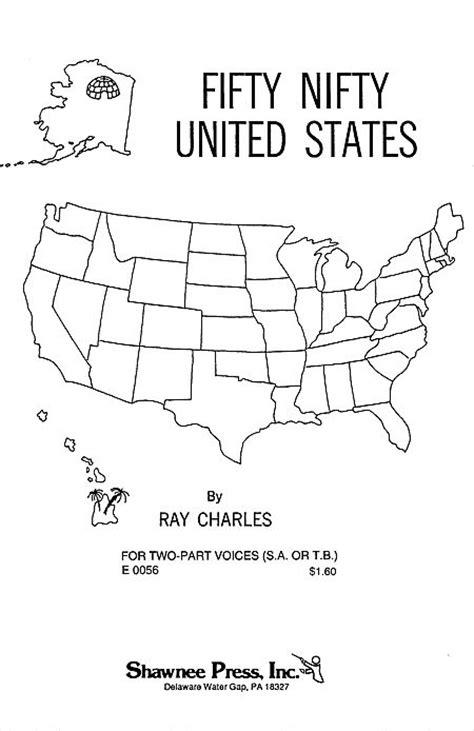 printable lyrics 50 nifty united states fifty nifty united states sheet music by ray charles sku