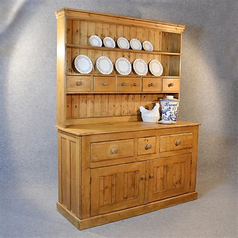 kitchen display cabinet antique victorian pine dresser welsh country kitchen