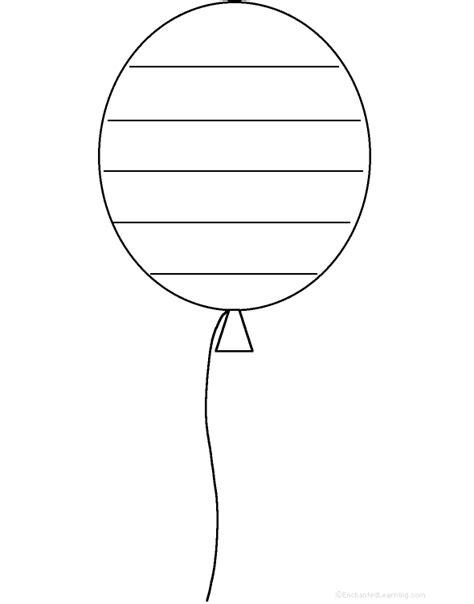 printable balloon shapes balloon shape poem printable worksheet
