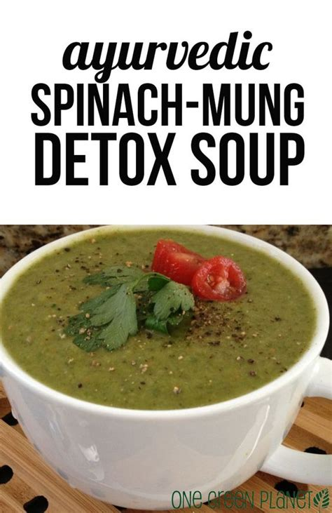 Dr Oz Detox Vegetable Broth Recipe by Ayurvedic Spinach Mung Detox Soup Vegan Detox Soup