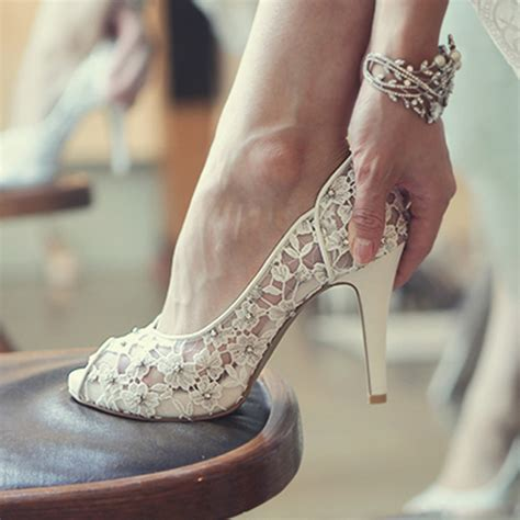 Pretty Wedding Shoes by Bling Bling Flowers Wedding Shoes Pretty Stunning Heeled