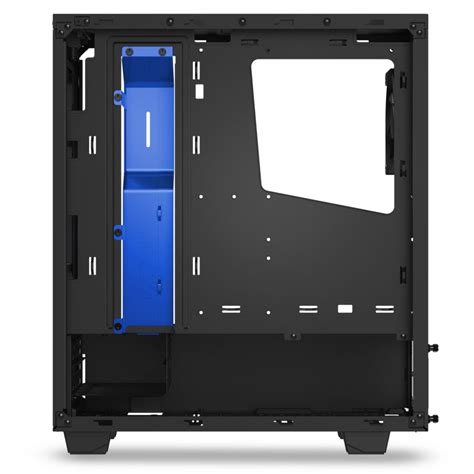 nzxt s340 case fans nzxt s340 black blue mid tower gaming case
