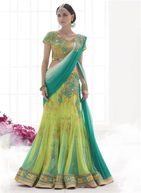 net pattern lehenga phenomenal net green lehenga saree