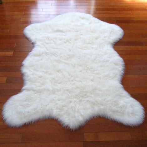 real polar rug snowy white polar pelt contemporary rugs