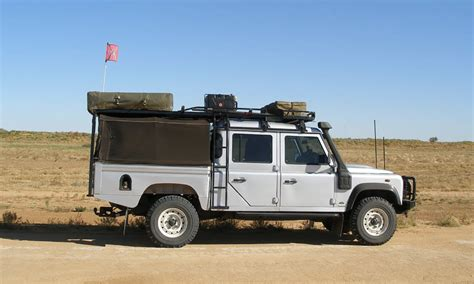 land rover defender safari land rover defender 130 hannibal safari roof racks