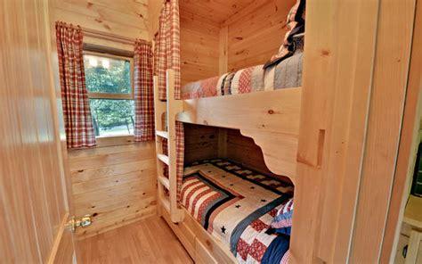 Trout Run Cabin by Trout Run Cabin Blue Ridge Ga Small 009 Bunk Room 666x417