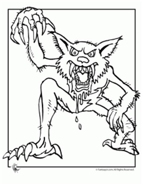halloween coloring pages werewolf the ultimate collection of halloween coloring pages woo