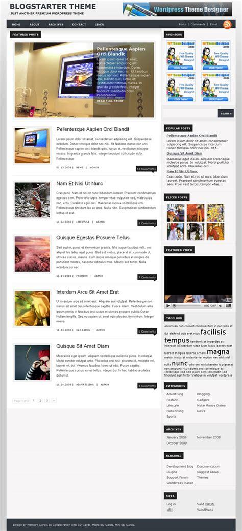 wordpress themes blog magazine free 60 free yet premium quality wordpress magazine news