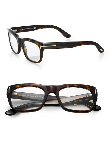 tom ford 5277 square optical frames in brown for lyst