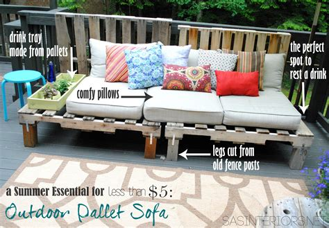 how to build outdoor couch diy outdoor pallet sofa jenna burger