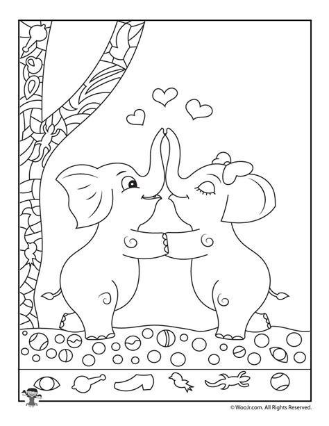 free printable hidden pictures for valentines day find the item game with elephants woo jr kids activities