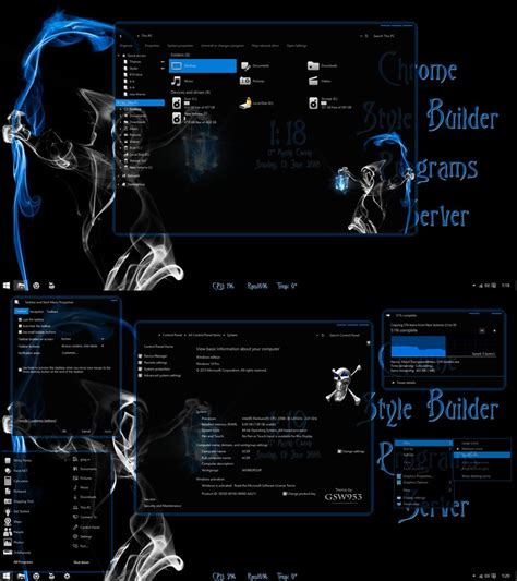pc themes build ghostly for windows 10 version 1511 build 10586 by