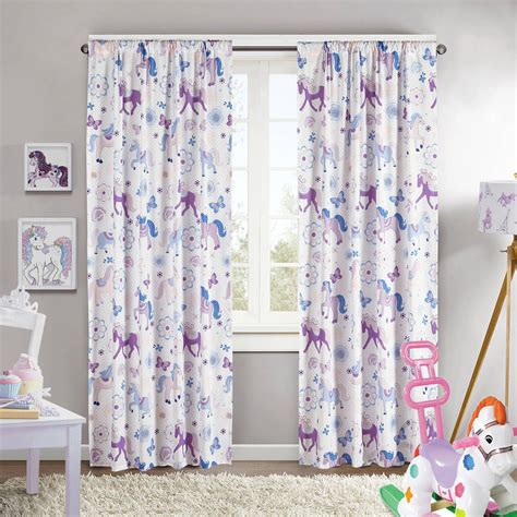 kids room beautiful flower print curtain ideas  kids