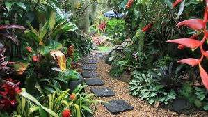 Landscape garden design ideas on create a tropical garden landscape
