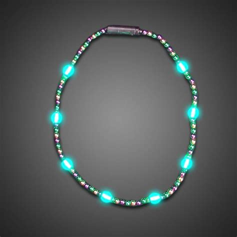 battery operated light up mardi gras necklace