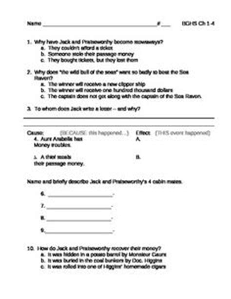 by the great horn spoon quiz questions mr popper s penguins literature unit complete