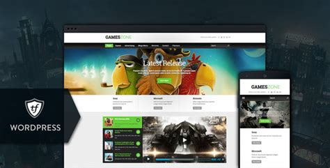 themes in games games zone gaming wordpress theme by themefuse themeforest