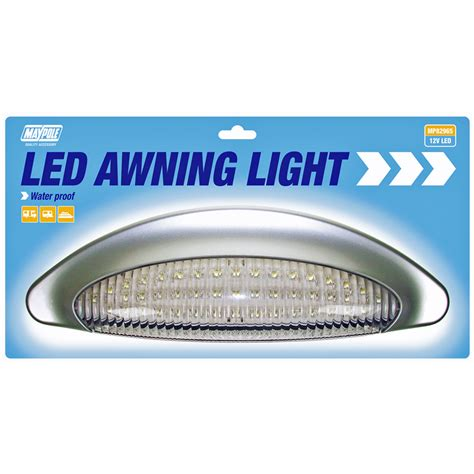 12v awning light maypole caravan awning light waterproof led white 12v ebay