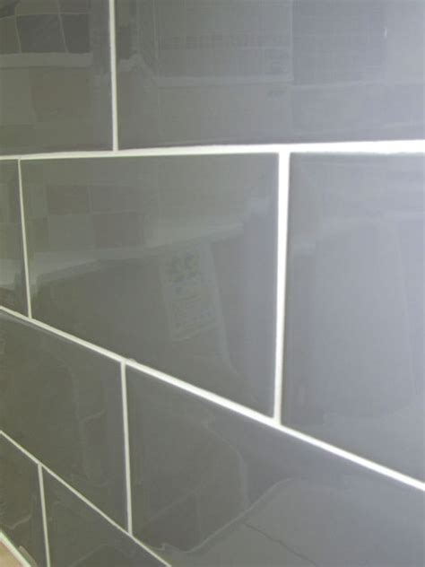 metro plata brick wall tile 10x20cm grey coloured bevelled edge tile subway brick for the