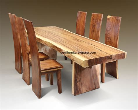 Meja Makan Kayu Utuh meja kayu panjang