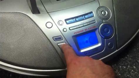 radio cassette cd panasonic boom box stereo cd radio cassette