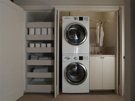 Closet Design For Laundry Room | laundry room in closet modern laundry room