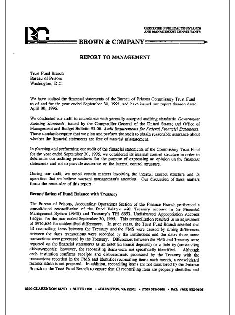 Audit Report Response Letter audit report 97 02