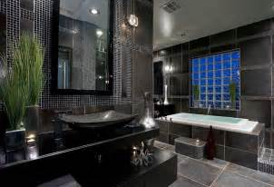 Black And Bathroom Ideas Master Bathroom Tile Designs With Black Color Home