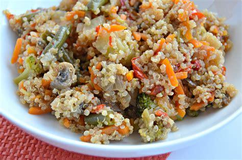 vegetables quinoa sweet chili vegetable quinoa bowl