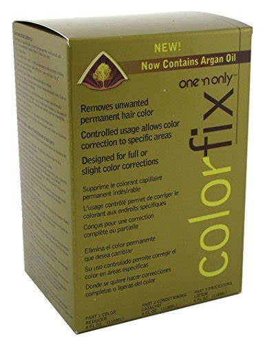 one n only color fix one n only colorfix kit permanent hair color remover by