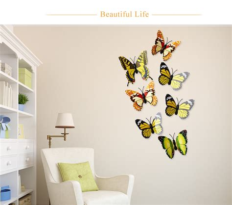 L Best Price 3d Wall Sticker Bahan Kayu Ringan buy generic diy 12pcs 3d butterfly wall decor stickers for living room bedroom office
