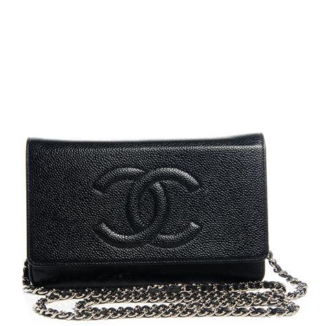 Chanel Caviar Chain chanel caviar timeless cc wallet on chain woc black 66610