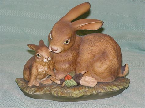 home interior masterpiece figurines homco masterpiece porcelain bunny love discontinued figure