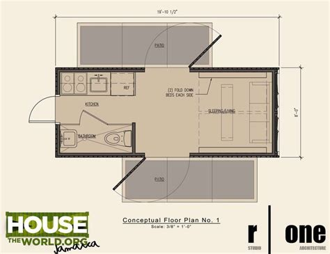 Shipping Container Home Floor Plan 20 Ft Houses Container House Plans Designs