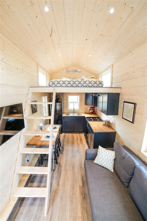 tiny dream home  wheels   sleeping lofts