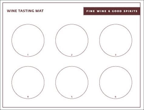 blank wine tasting notes template