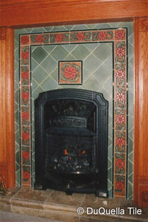 Decorative Tile For Fireplace by Duquellatile Handcrafted Decorative Tiles In Arts And
