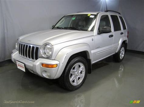 silver jeep liberty 2004 jeep liberty limited 4x4 in bright silver metallic