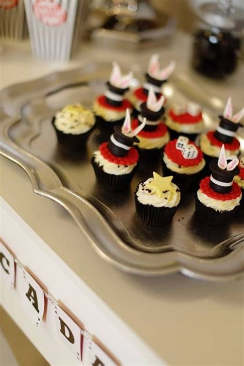 Cups Cake Magic magic show themed cupcakes and boy birthday on