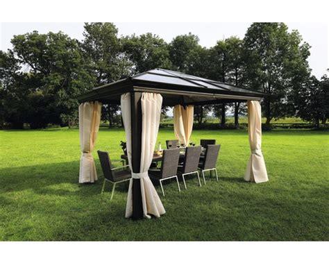 gartenpavillon metall 4x4 pavillon sinaia 3 65 x 3 m braun jetzt kaufen bei